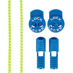 Lock Laces Run Laces Reflective, safety yellow/electric blue